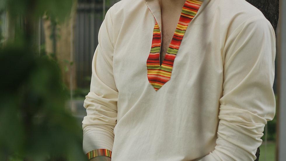 Multicolored Collar Kurta