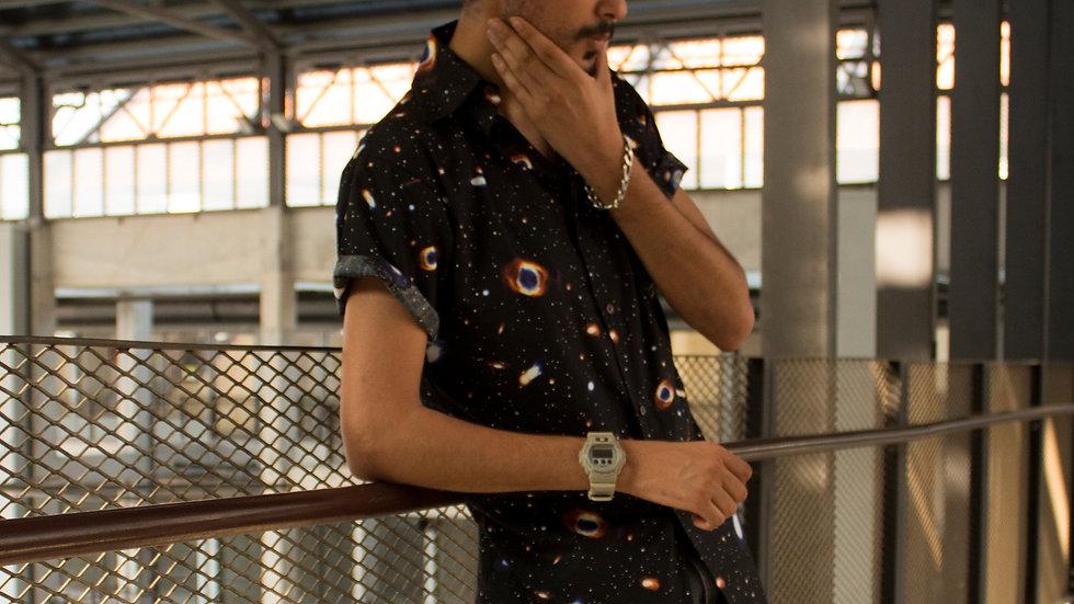 Galaxy Printed Shirt(Black)