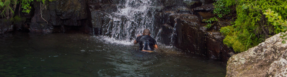 Natural pool water swim