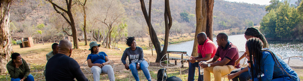 Outdoor Session facilitated by well experienced Xolani