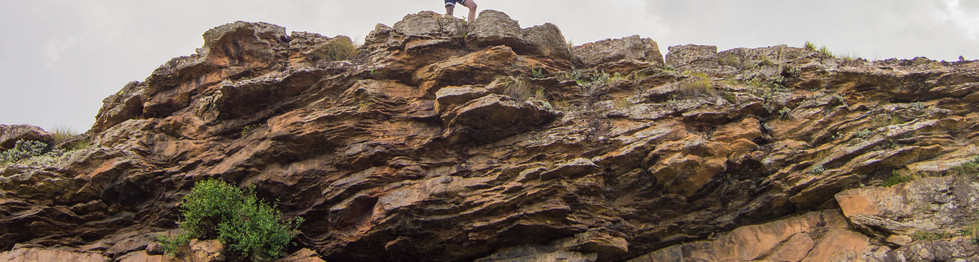 Man on a mountain high