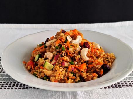 Curried quinoa tabbouleh