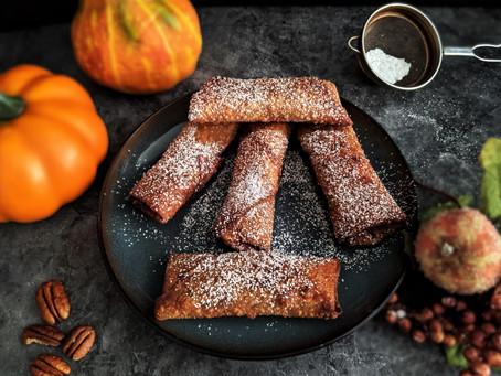 Pumpkin and caramelized white chocolate lumpia