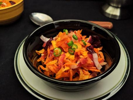 Lightning fast carrot salad