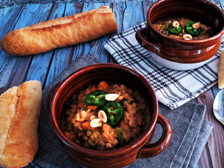West African lentil stew