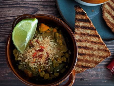 Curried split pea stew