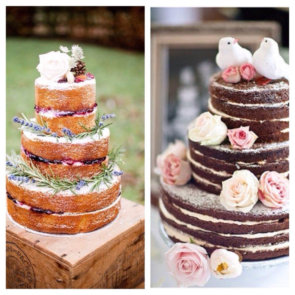 Голый торт на свадьбу – отличная альтернатива классическому варианту картинки