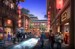 Handan Gateway traditional street