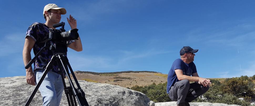 "Filming at ""City of Rocks"""