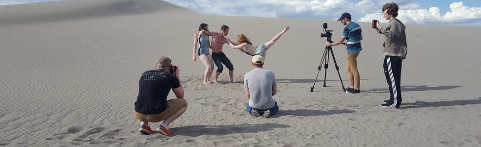 Filming at Bruneau Sand Dunes