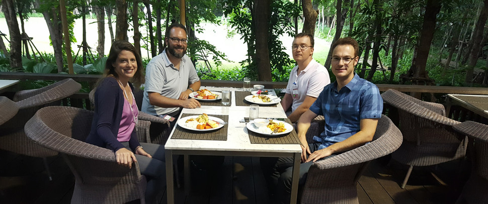 Lunch with fellow TICF composers