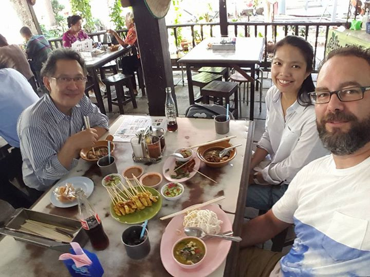 Lunch with friends in the ancient city of Ayutthaya, Thailand