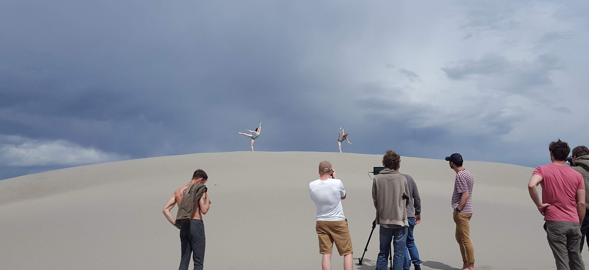 Filming at Bruneau Sand Dunes