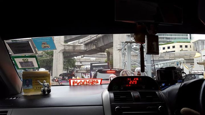 Cab ride in Bangkok