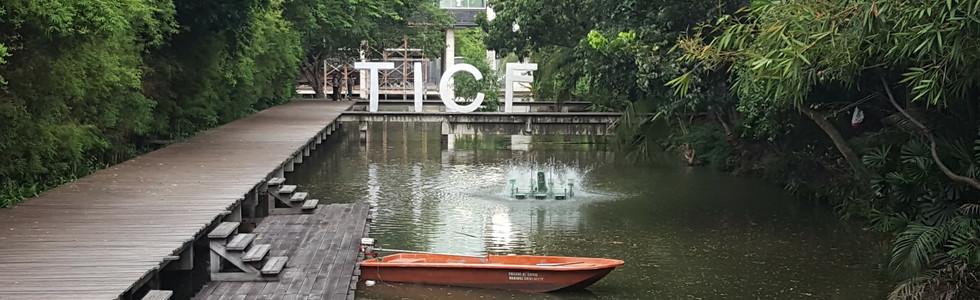 A water walkway through the Mahidol University Campus