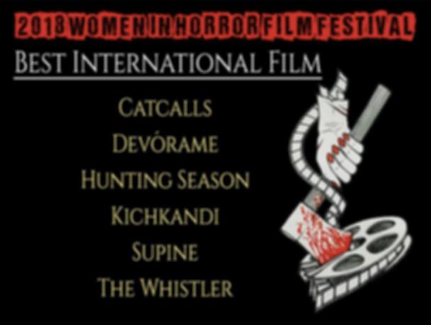 Women in Horror - Best Intl Film- 080918