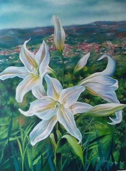 Azucenas blancas (Gladys Jaimes)