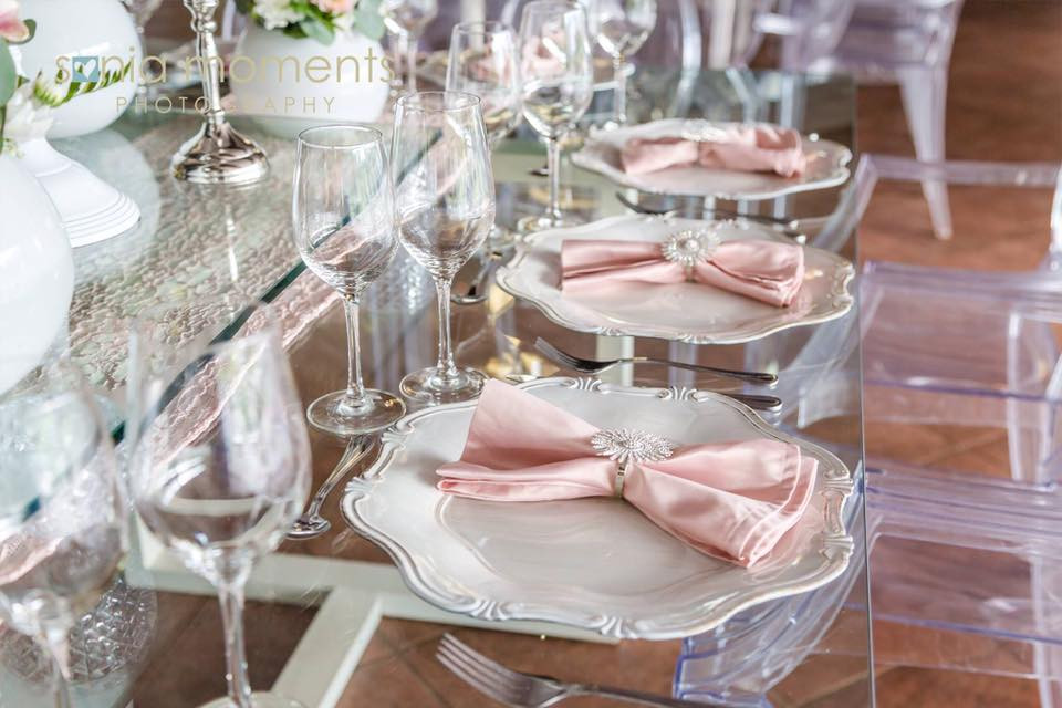 Beautiful Cream and Soft Pink Lace for a perfect Wedding to Remember