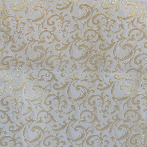 WHITE & GOLD DAMASK