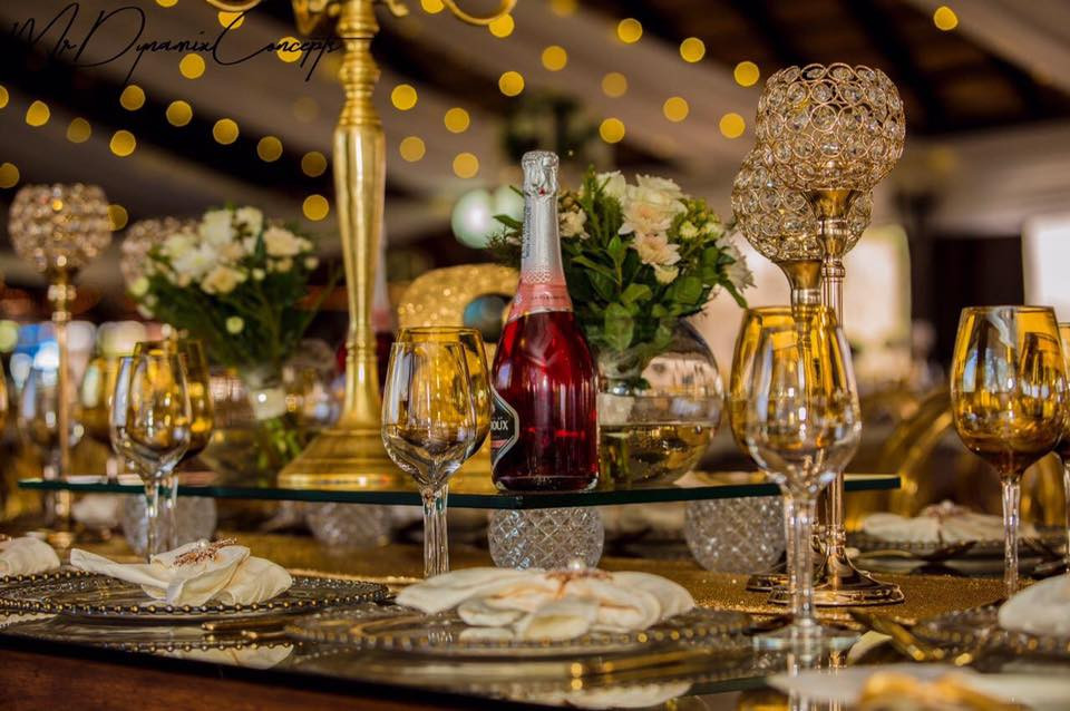 A Cream and Gold Dream that came to live with the help of the team from Nyeleti Events