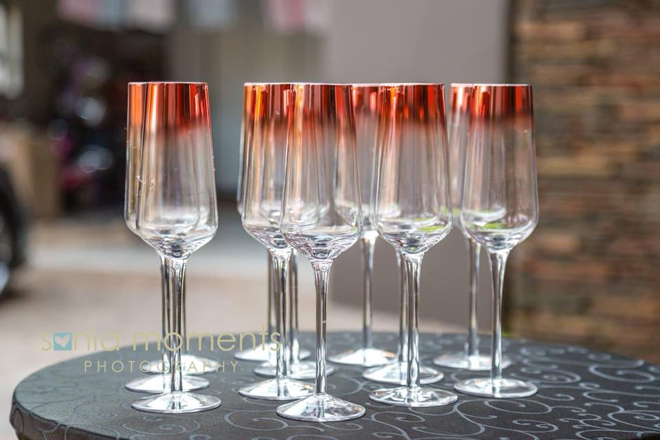 Nyeleti Events hosts a wide range of glassware that can be personalized for any type of event