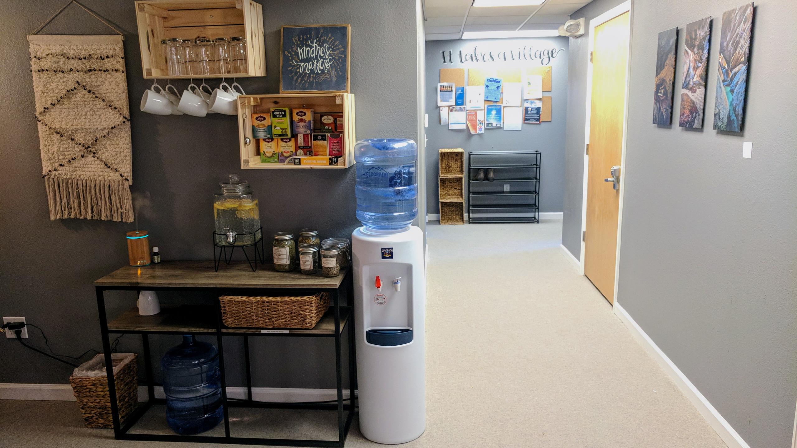Tea Station & Hallway