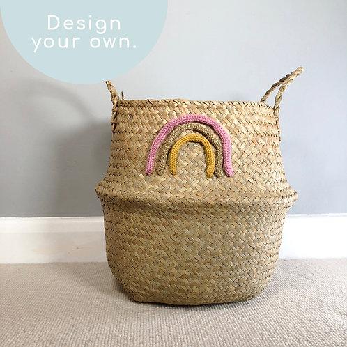 Design Your Own Rainbow Basket