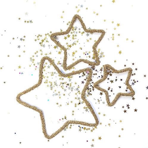 Set of 3 Star Decorations
