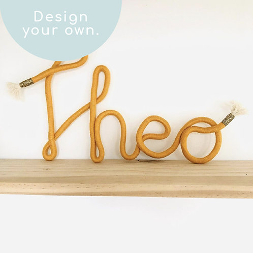 Personalised Name/Word Wall Sign