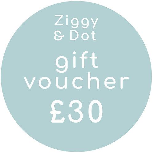 £30 Gift Card E-Voucher