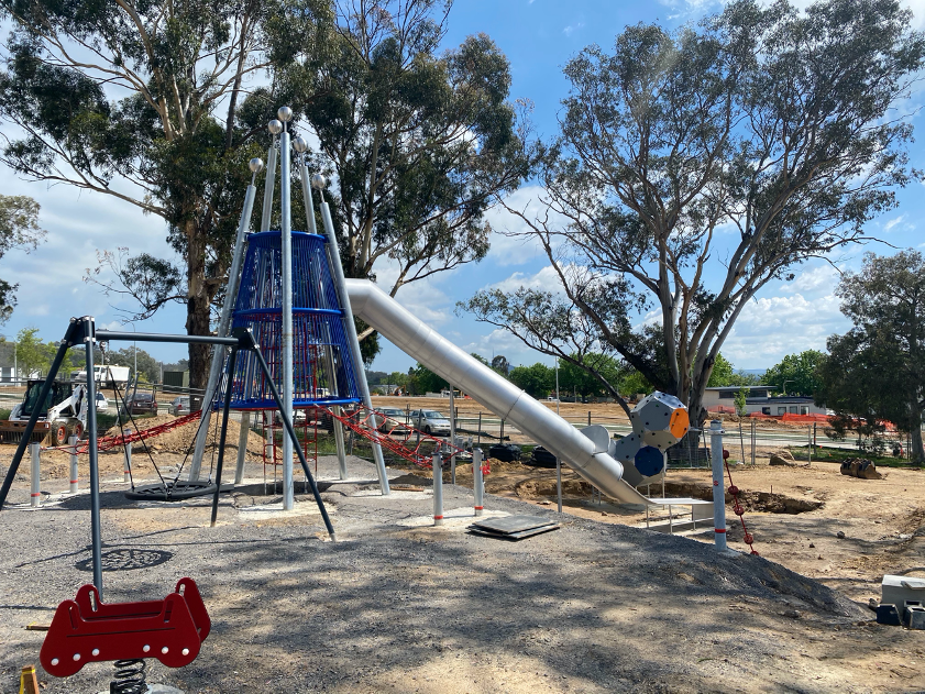 Image of children's play park being built