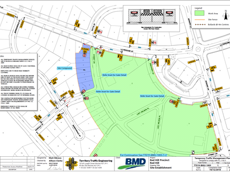 Approved Temporary Traffic Management plan