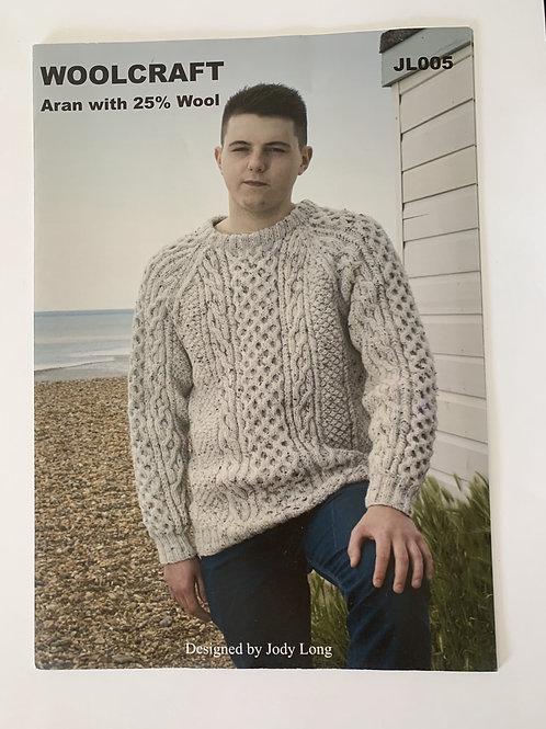 Aran Mens Sweater Pattern