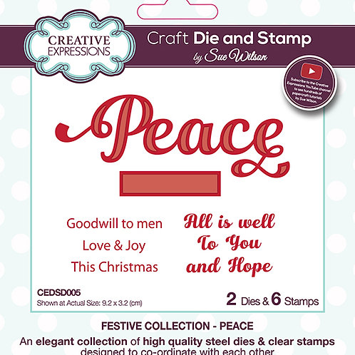 Peace - Sentiment & Clear Stamp Set
