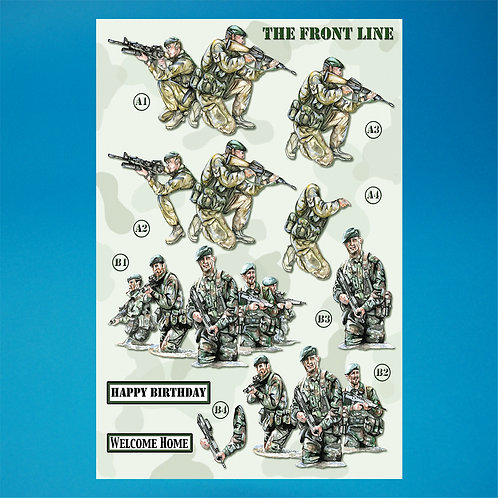 Army Die-Cut Decoupage - A4 Sheet