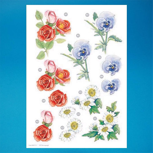 Diecut - A4 Sheet - flowers