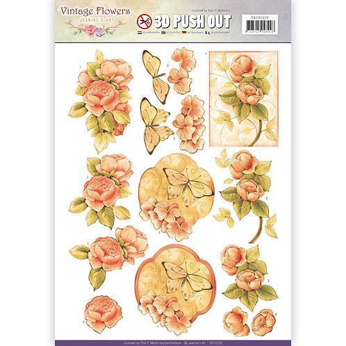 vintage Florals - Die Cut Decoupage Sheet