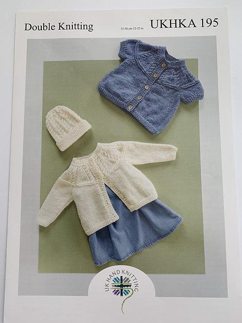 Baby DK Cardigan & Hat Pattern