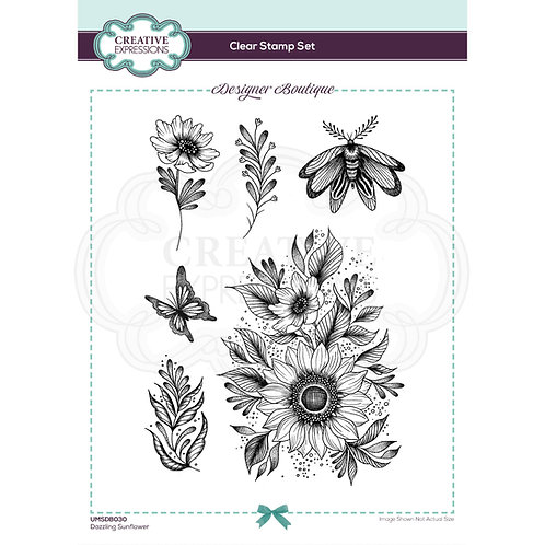 Designer Boutique - Clear Stamps - Dazzling Sunflower