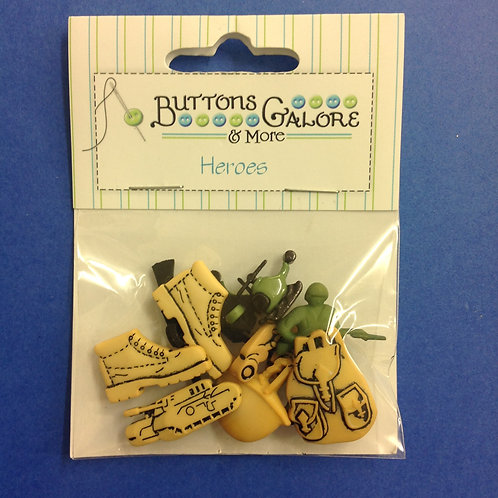 Army Heroes Buttons