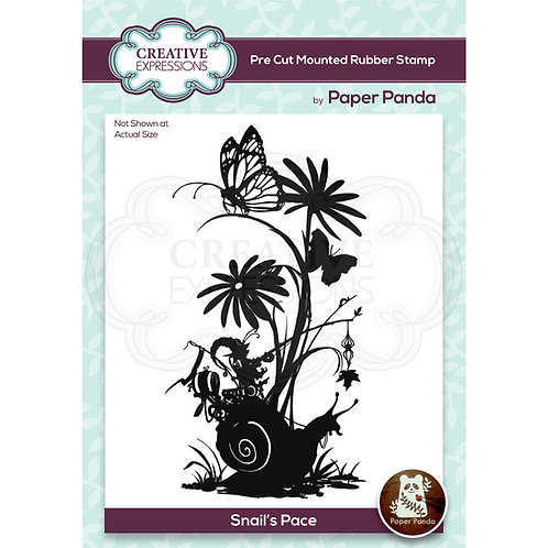 Paper Panda - Snails Pace - Rubber Mounted Stamp