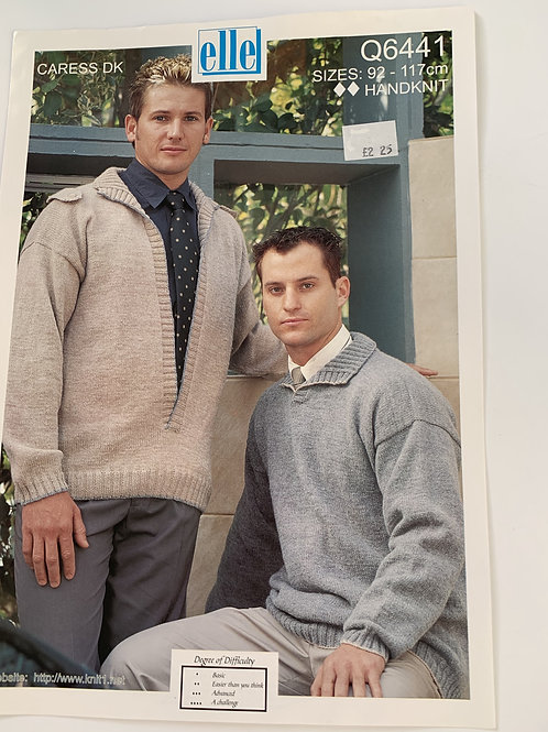 DK Mens Sweater Pattern
