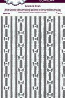 Rows of bows embossing folder