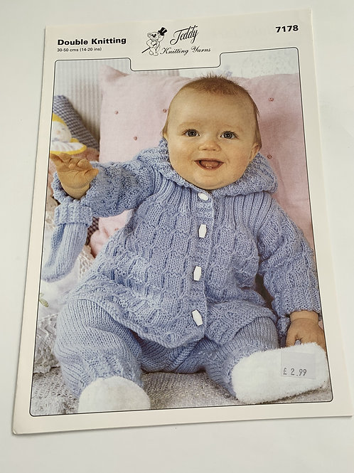 Baby DK Jacket, Trousers & Mitts Pattern