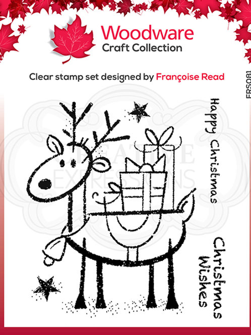 Woodware - Clear Stamp - Rudolph Pressies