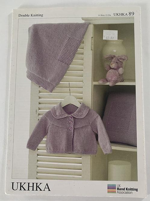 DK Baby Blanket, Cushion & Cardigan Pattern