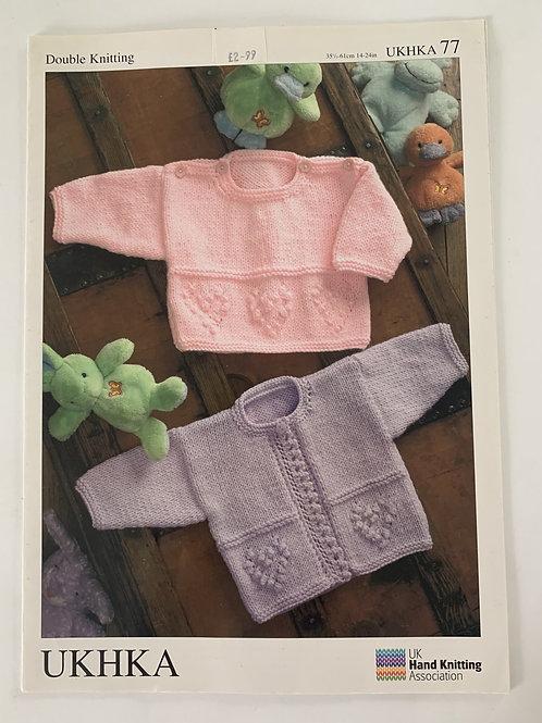 DK Baby Sweater & Cardigan Pattern