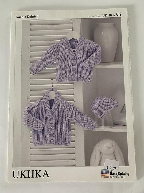 DK Baby Cardigan & Hat Pattern