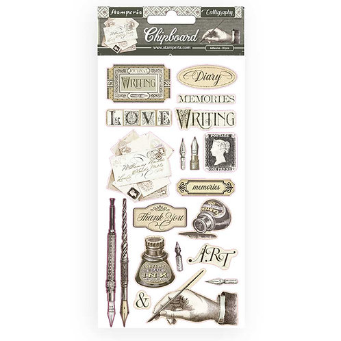 Chipboard Stickers - Calligraphy