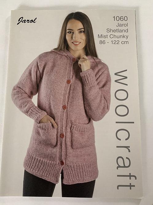 Chunky Ladies Hooded Coat Pattern